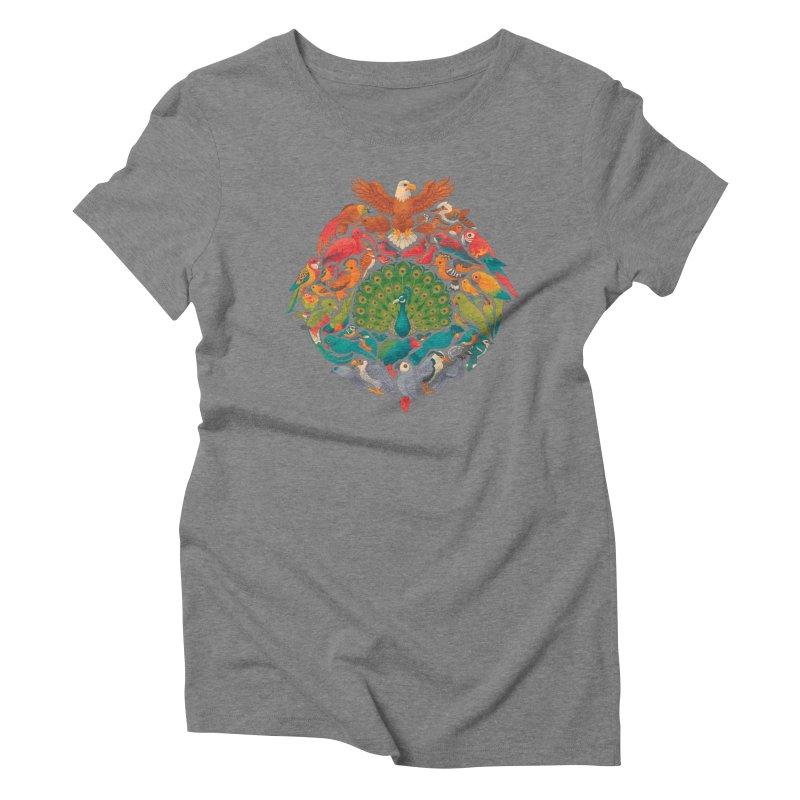 Aerial Rainbow Women's Triblend T-Shirt by Waynem
