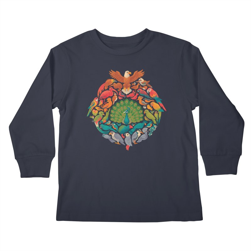 Aerial Rainbow Kids Longsleeve T-Shirt by Waynem