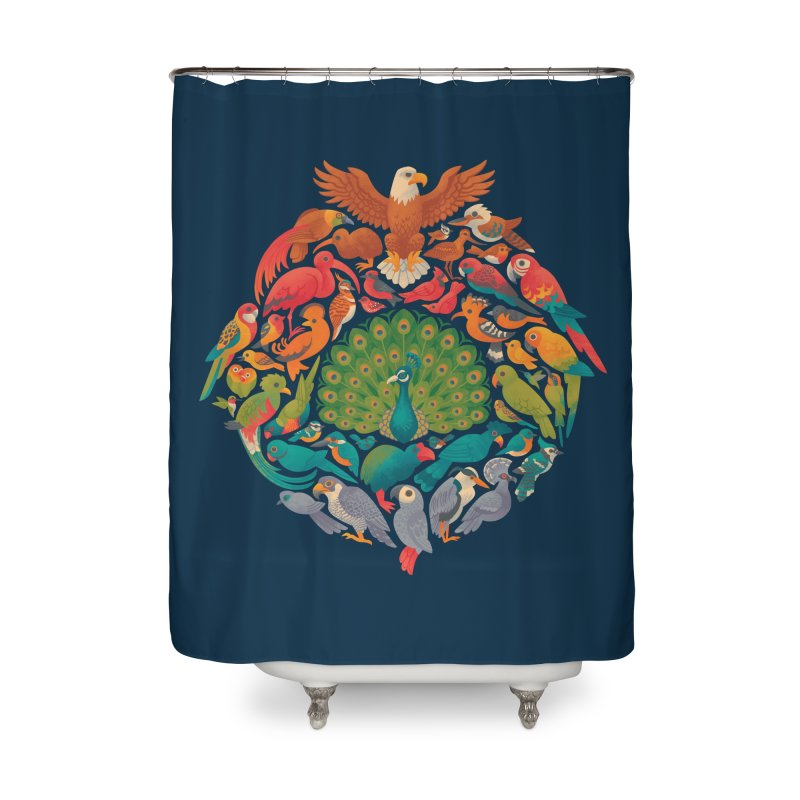 Aerial Rainbow Home Shower Curtain by Waynem