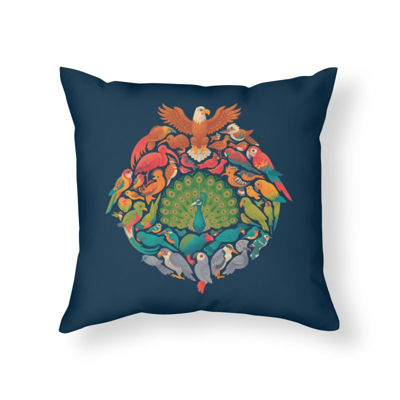 Aerial Rainbow Home Throw Pillow by Waynem