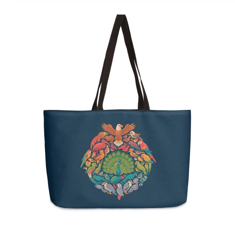 Aerial Rainbow Accessories Weekender Bag Bag by Waynem