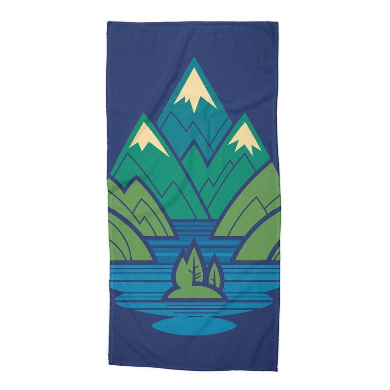 Mountain Lake Accessories Beach Towel by Waynem