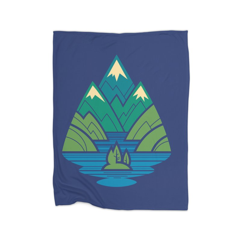 Mountain Lake Home Fleece Blanket Blanket by Waynem