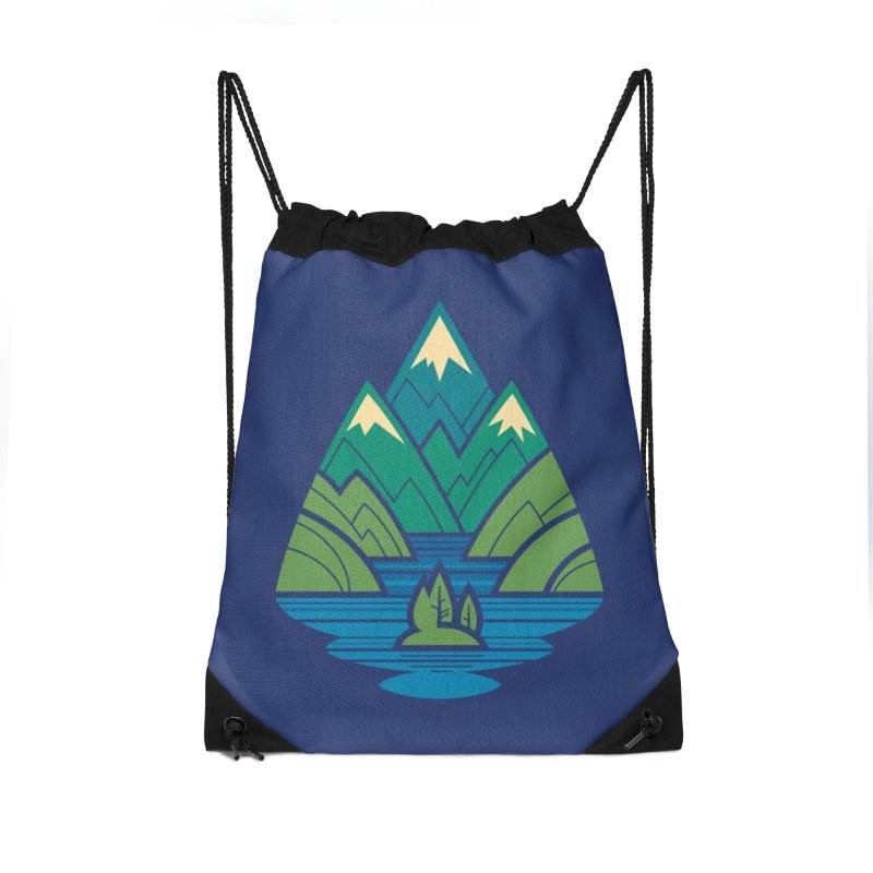 Mountain Lake Accessories Drawstring Bag Bag by Waynem