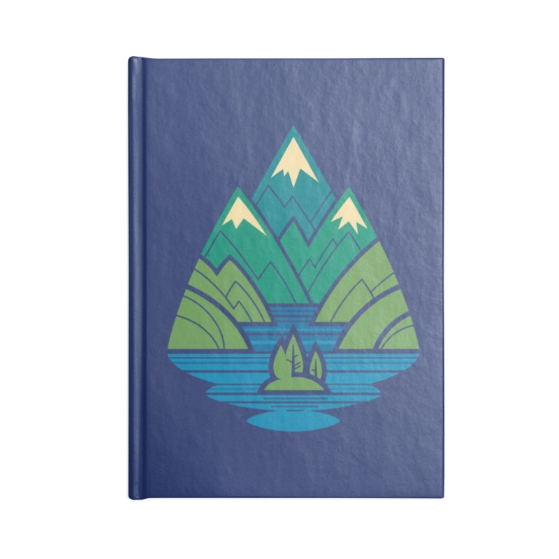 Mountain Lake Accessories Blank Journal Notebook by Waynem