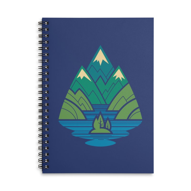 Mountain Lake Accessories Lined Spiral Notebook by Waynem