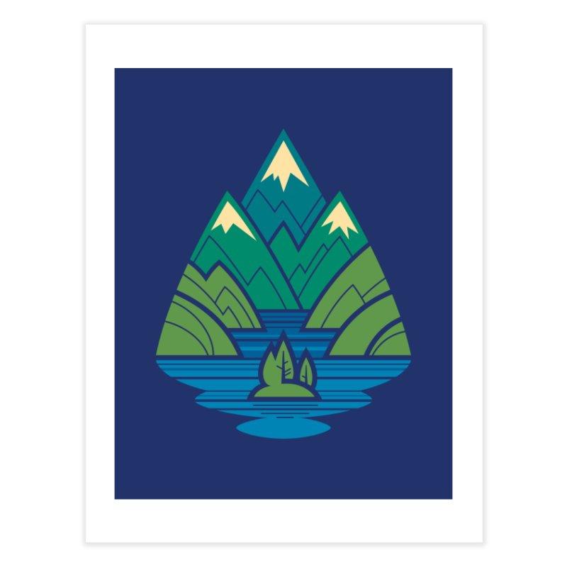 Mountain Lake Home Fine Art Print by Waynem