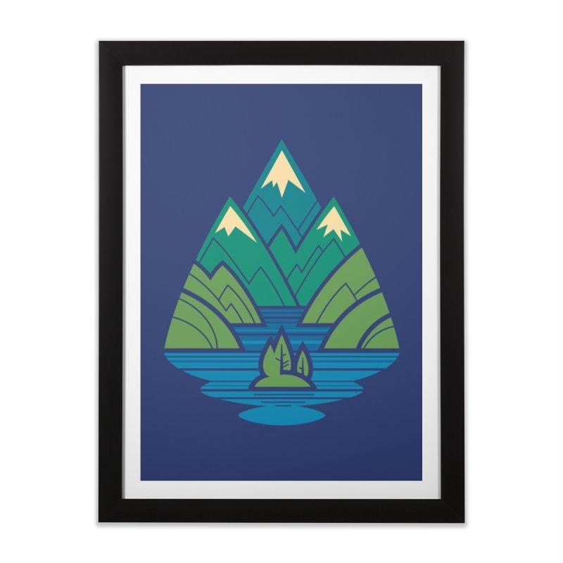 Mountain Lake Home Framed Fine Art Print by Waynem