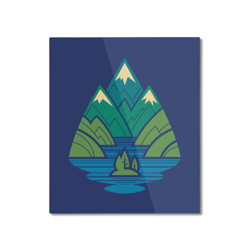 Mountain Lake Home Mounted Aluminum Print by Waynem