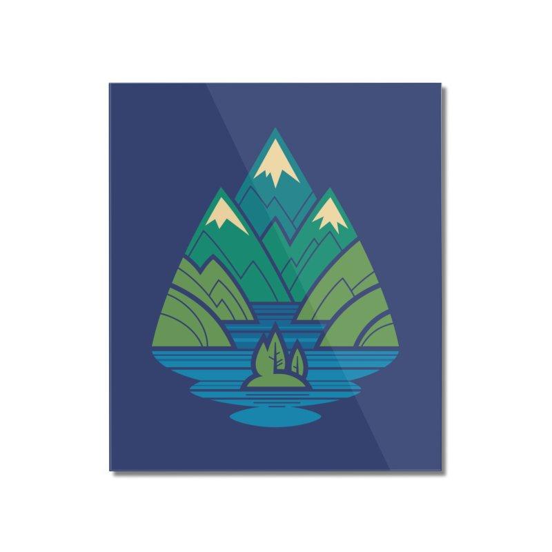 Mountain Lake Home Mounted Acrylic Print by Waynem
