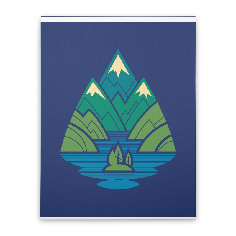 Mountain Lake Home Stretched Canvas by Waynem