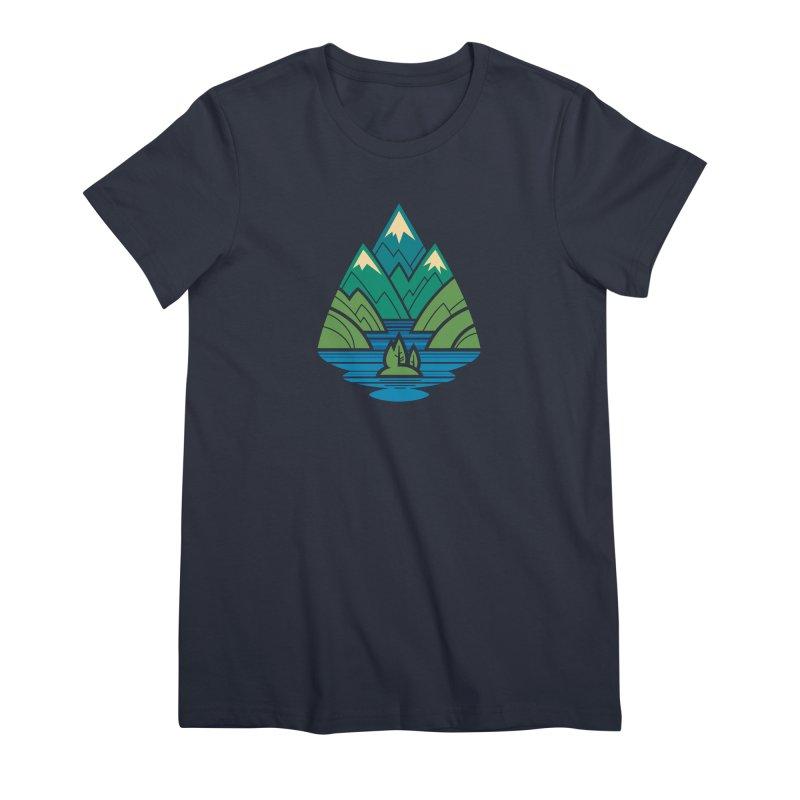 Mountain Lake Women's Premium T-Shirt by Waynem