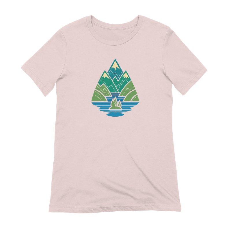 Mountain Lake Women's Extra Soft T-Shirt by Waynem