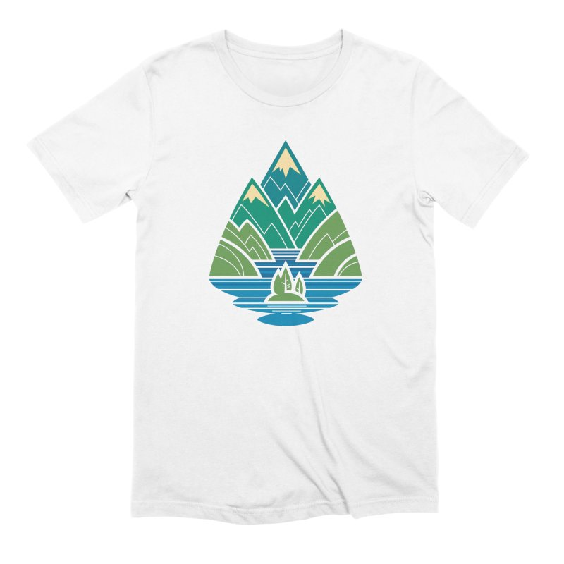 Mountain Lake Men's Extra Soft T-Shirt by Waynem