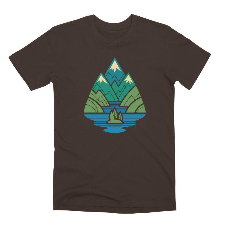 Mountain Lake Men's Premium T-Shirt by Waynem
