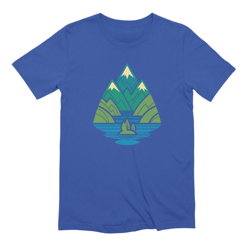 Mountain Lake Men's Extra Soft T-Shirt by Waynem