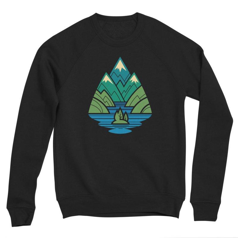 Mountain Lake Men's Sponge Fleece Sweatshirt by Waynem
