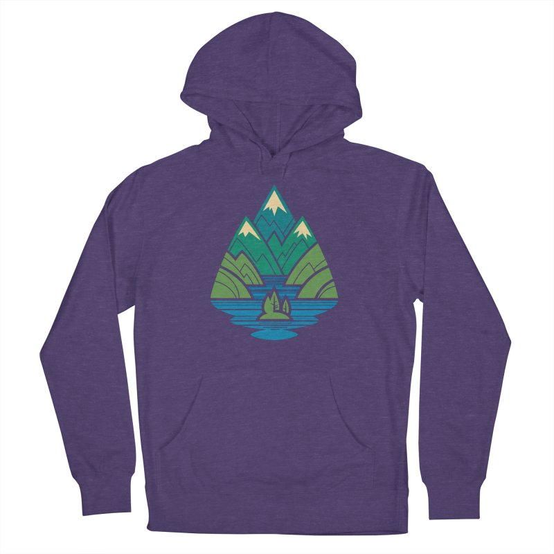 Mountain Lake Women's French Terry Pullover Hoody by Waynem