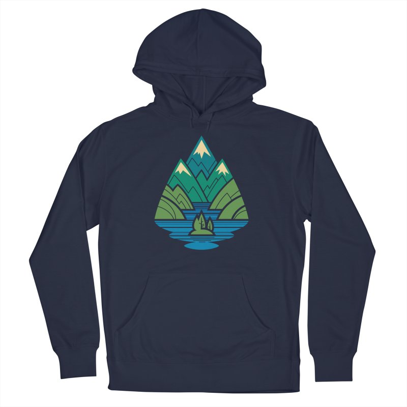 Mountain Lake Men's French Terry Pullover Hoody by Waynem