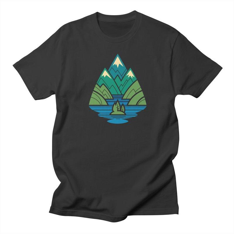 Mountain Lake Men's Regular T-Shirt by Waynem