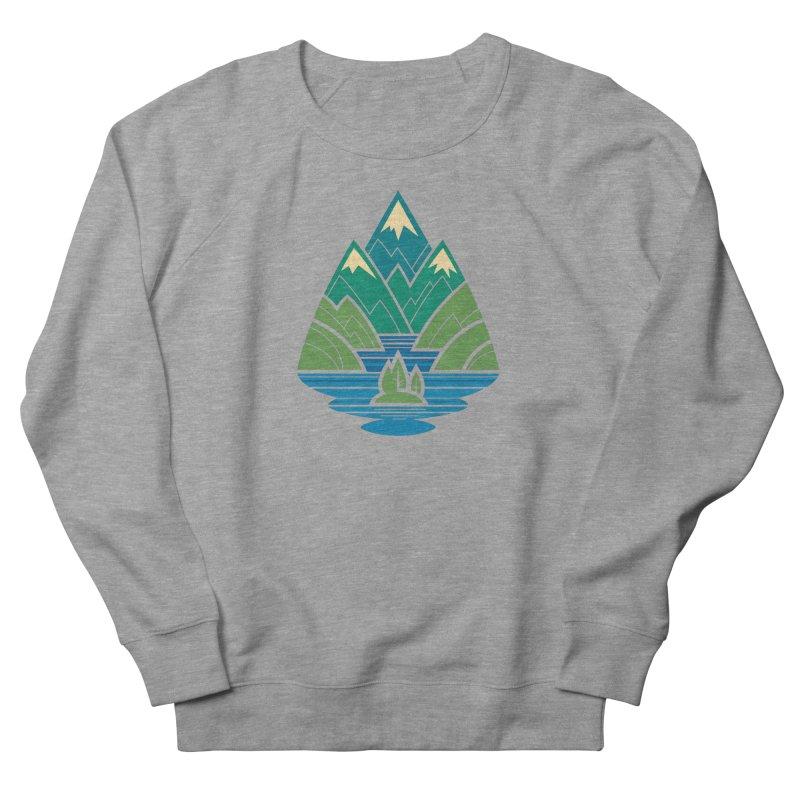 Mountain Lake Men's French Terry Sweatshirt by Waynem