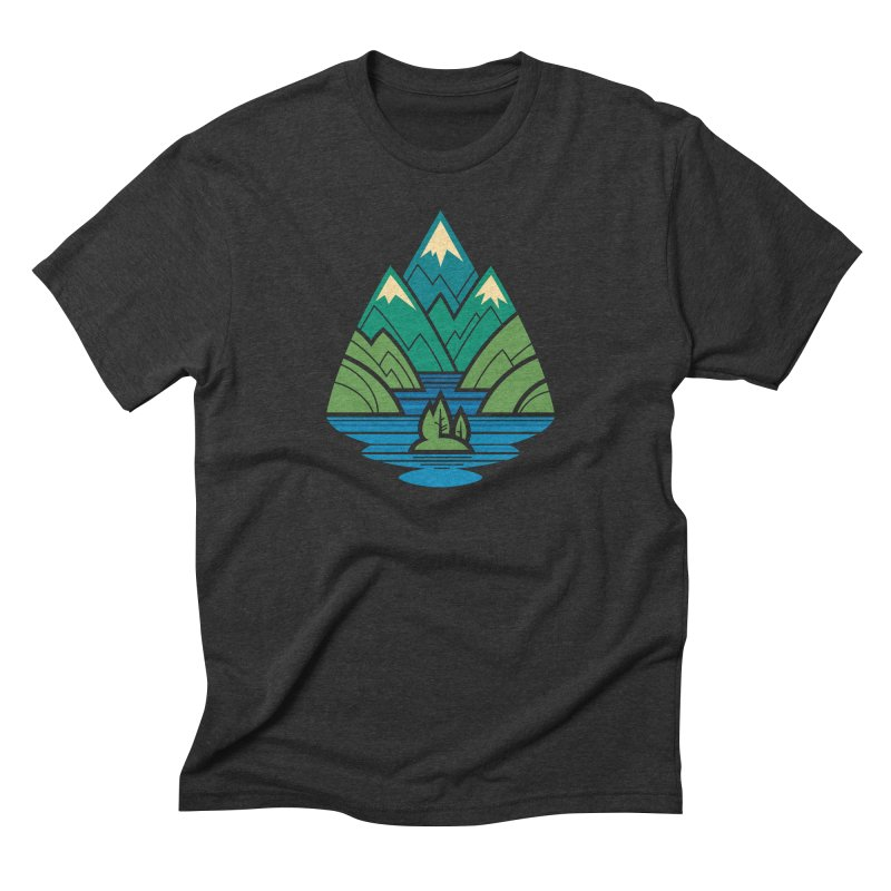 Mountain Lake Men's Triblend T-Shirt by Waynem
