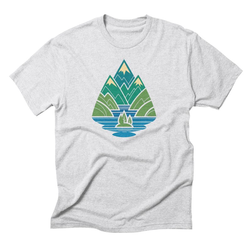 Mountain Lake Men's Triblend T-Shirt by Waynem