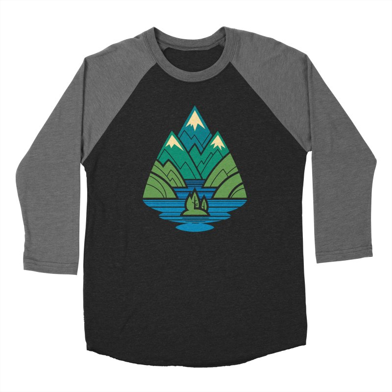Mountain Lake Men's Baseball Triblend Longsleeve T-Shirt by Waynem