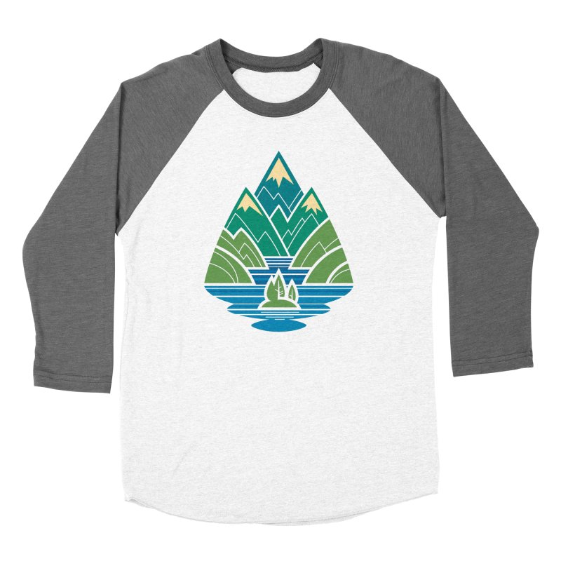 Mountain Lake Men's Baseball Triblend Longsleeve T-Shirt by Waynem
