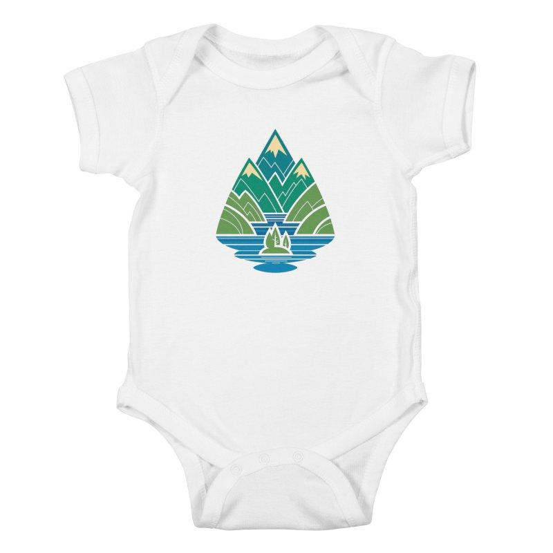 Mountain Lake Kids Baby Bodysuit by Waynem