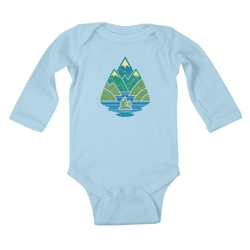 Mountain Lake Kids Baby Longsleeve Bodysuit by Waynem