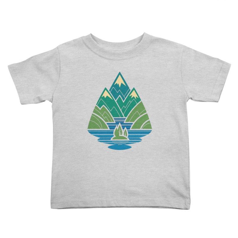 Mountain Lake Kids Toddler T-Shirt by Waynem