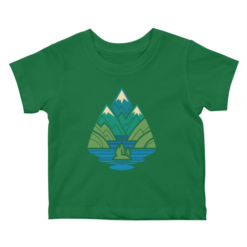 Mountain Lake Kids Baby T-Shirt by Waynem