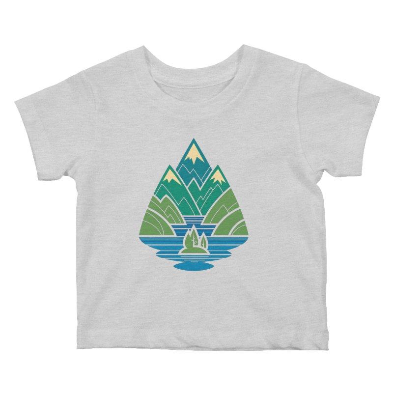 Mountain Lake Kids Baby T-Shirt by Waynem