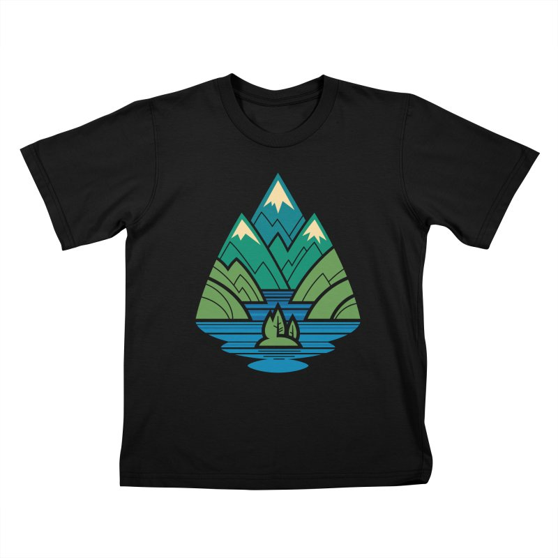 Mountain Lake Kids T-Shirt by Waynem
