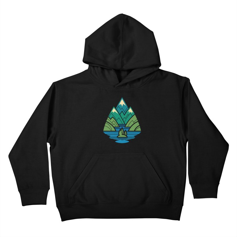 Mountain Lake Kids Pullover Hoody by Waynem