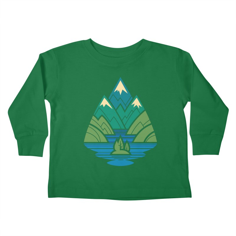 Mountain Lake Kids Toddler Longsleeve T-Shirt by Waynem