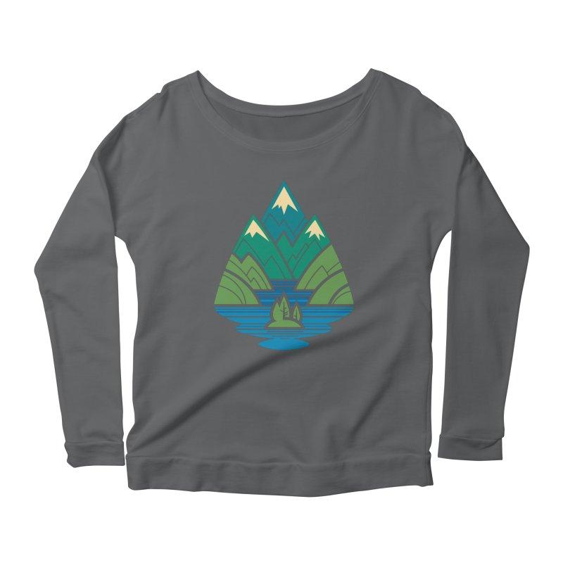 Mountain Lake Women's Scoop Neck Longsleeve T-Shirt by Waynem