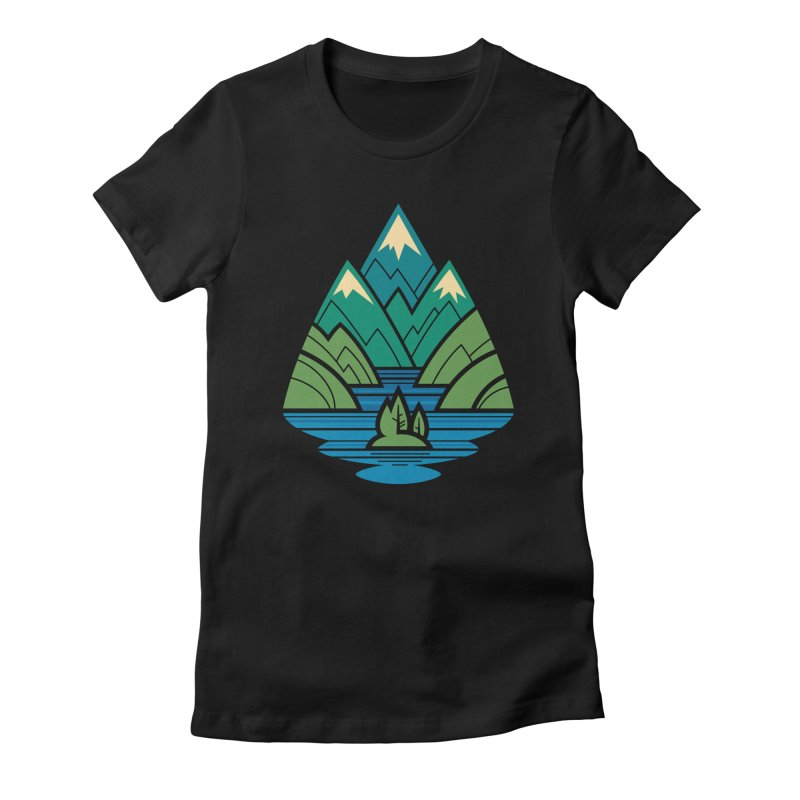 Mountain Lake Women's Fitted T-Shirt by Waynem