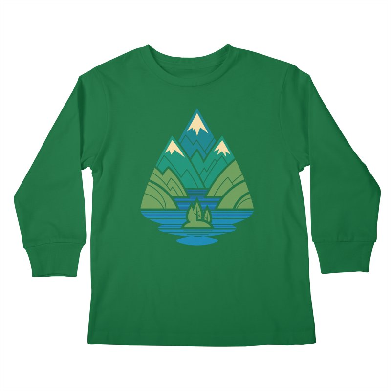 Mountain Lake Kids Longsleeve T-Shirt by Waynem