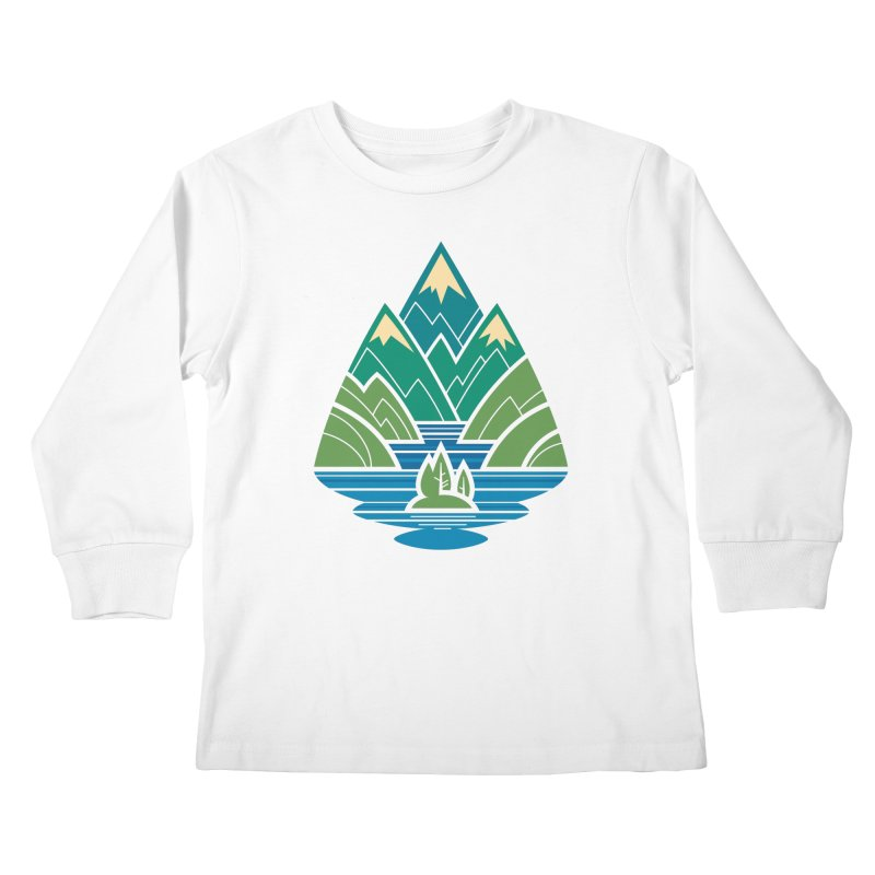 Mountain Lake Kids Longsleeve T-Shirt by Waynem