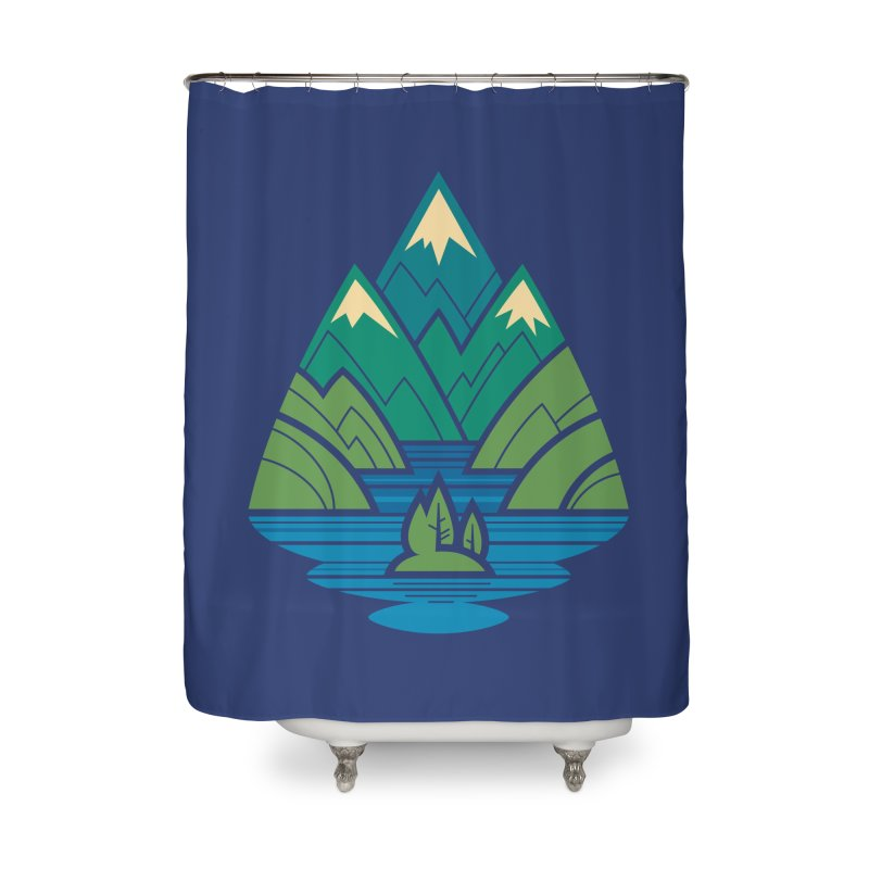 Mountain Lake Home Shower Curtain by Waynem