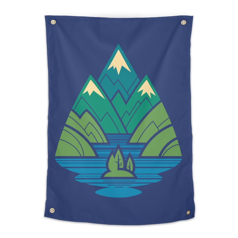 Mountain Lake Home Tapestry by Waynem