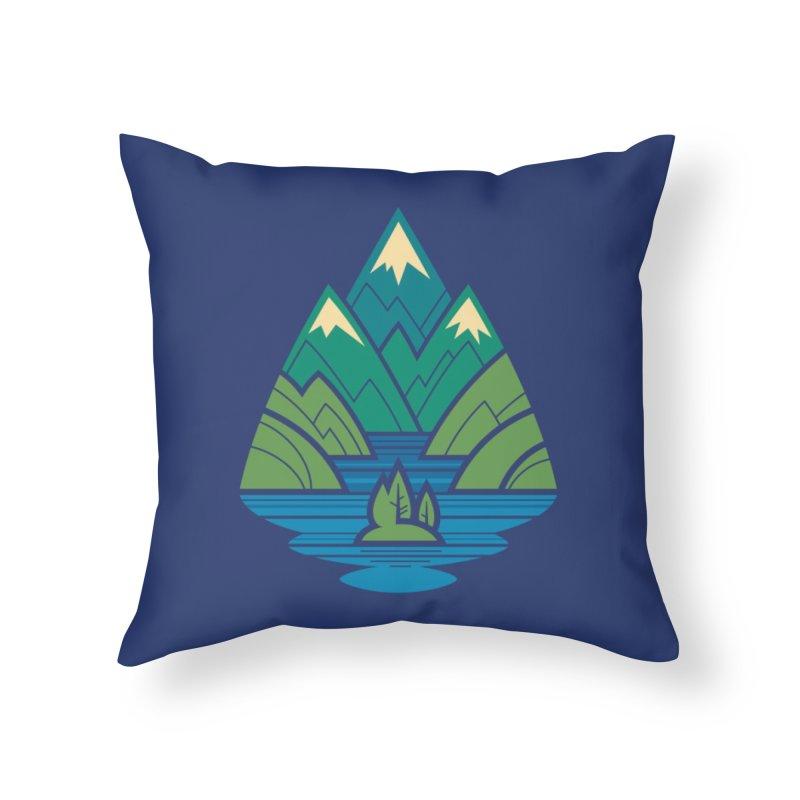 Mountain Lake Home Throw Pillow by Waynem