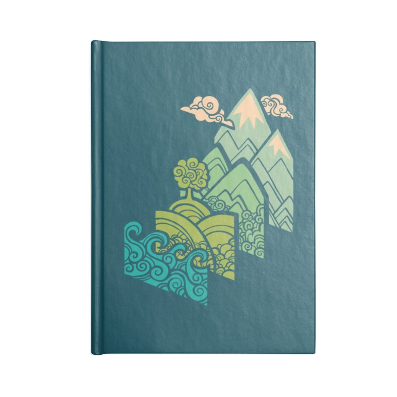 How to Build a Landscape Accessories Lined Journal Notebook by Waynem