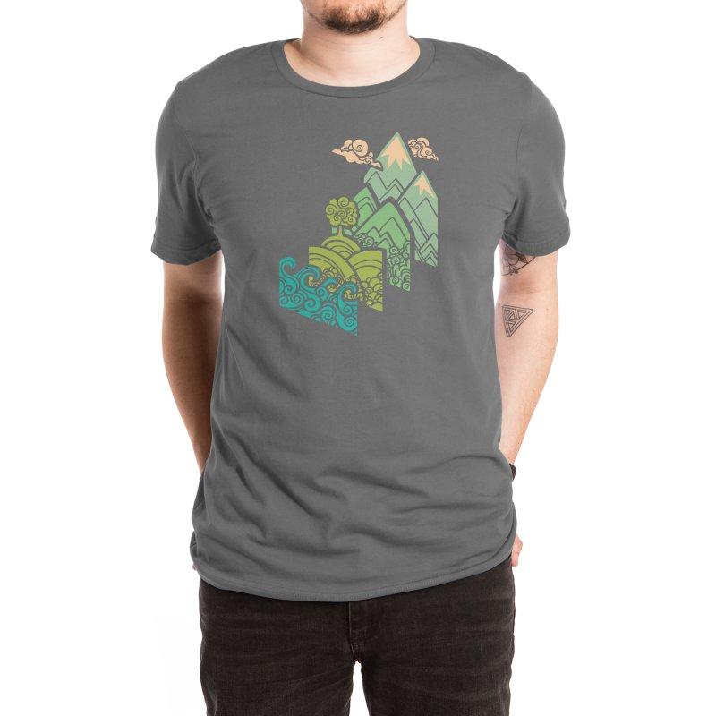 How to Build a Landscape Men's T-Shirt by Waynem