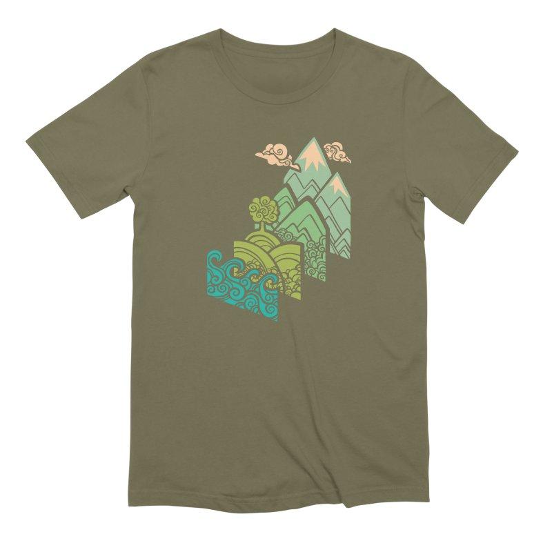 How to Build a Landscape Men's Extra Soft T-Shirt by Waynem