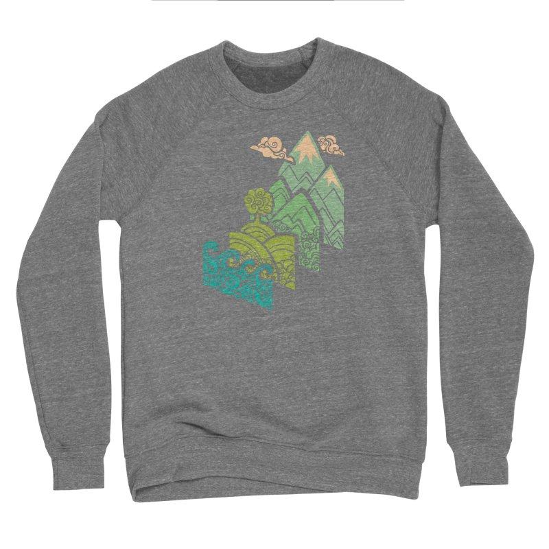 How to Build a Landscape Men's Sponge Fleece Sweatshirt by Waynem
