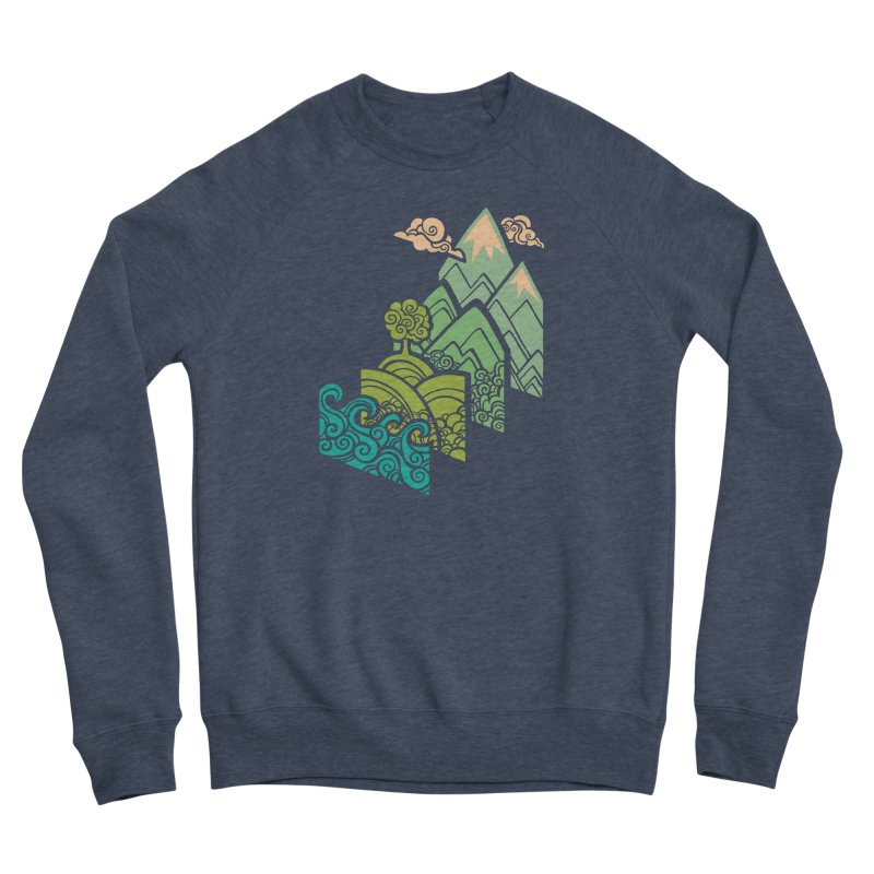 How to Build a Landscape Women's Sponge Fleece Sweatshirt by Waynem