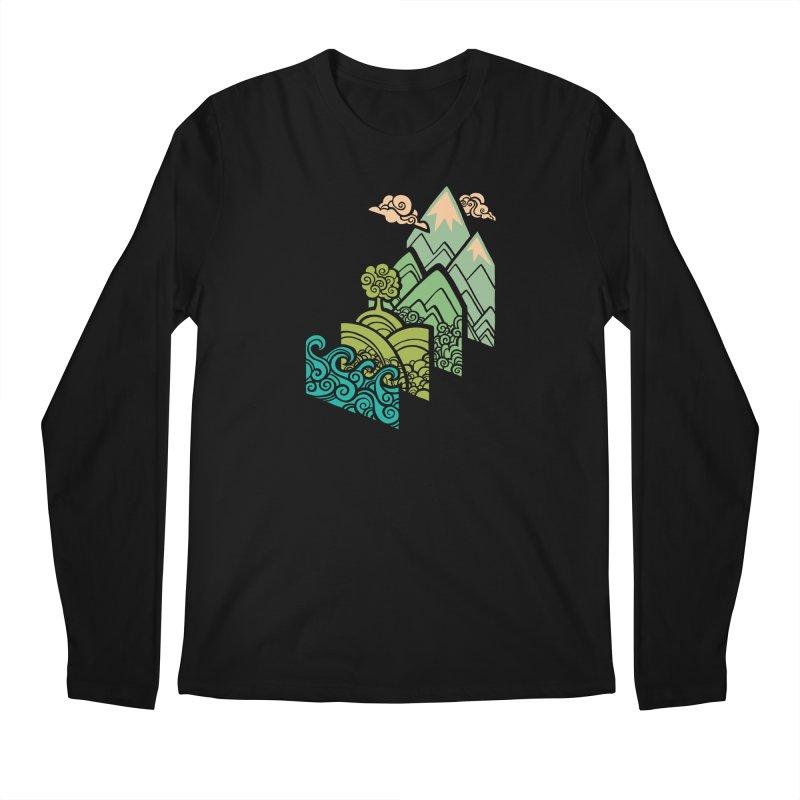 How to Build a Landscape Men's Regular Longsleeve T-Shirt by Waynem